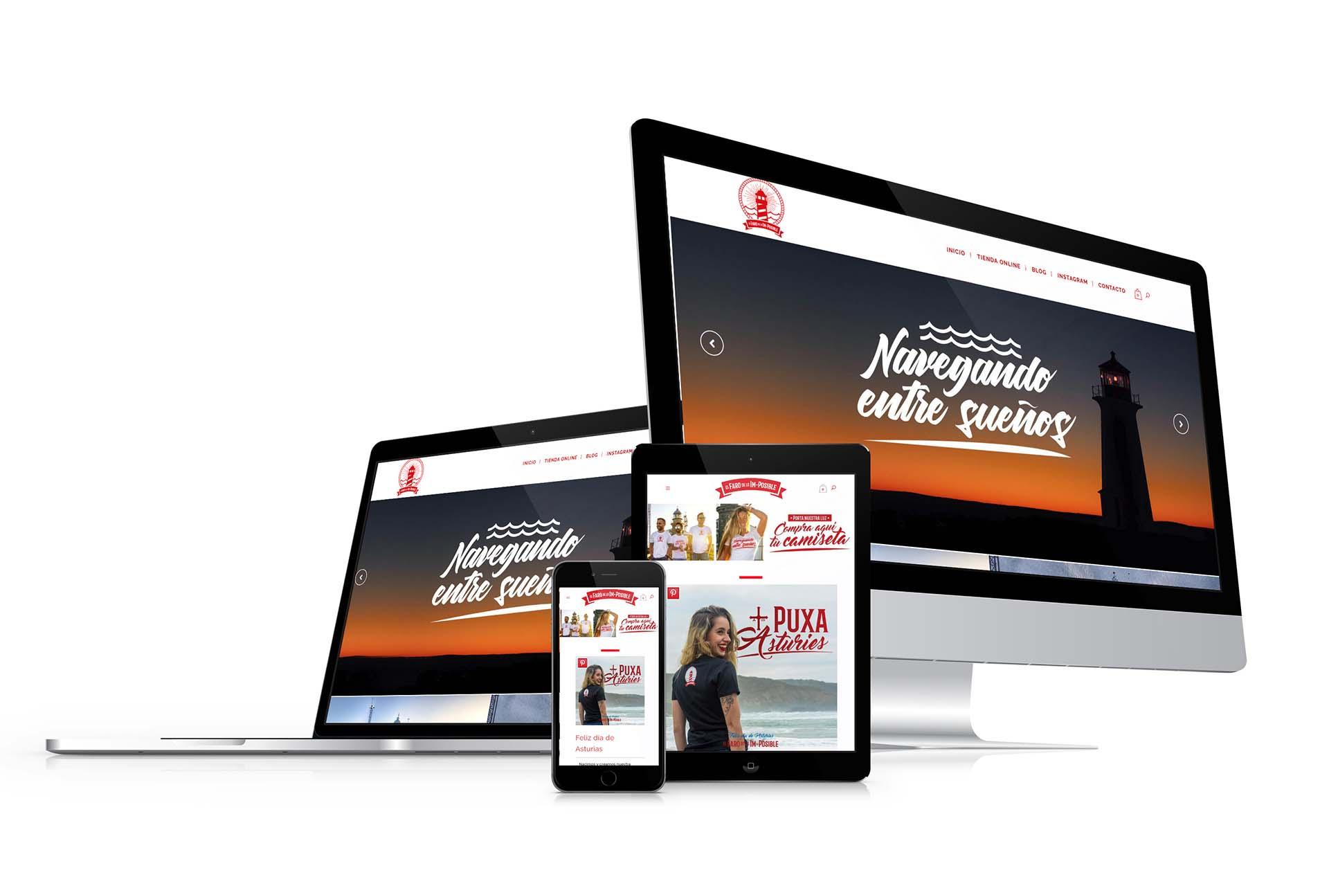 Diseño Tienda Online el Faro de lo Imposible