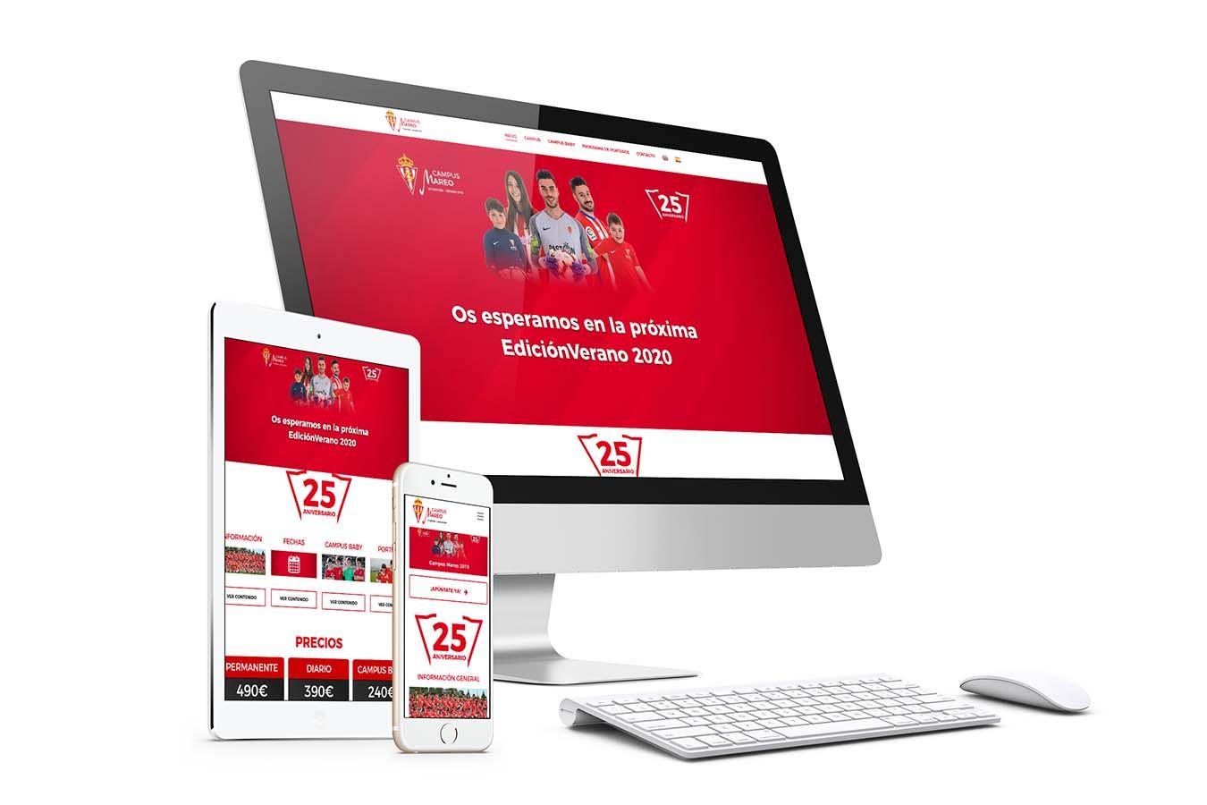 Diseño web Responsive Campus Sporting de Gijón