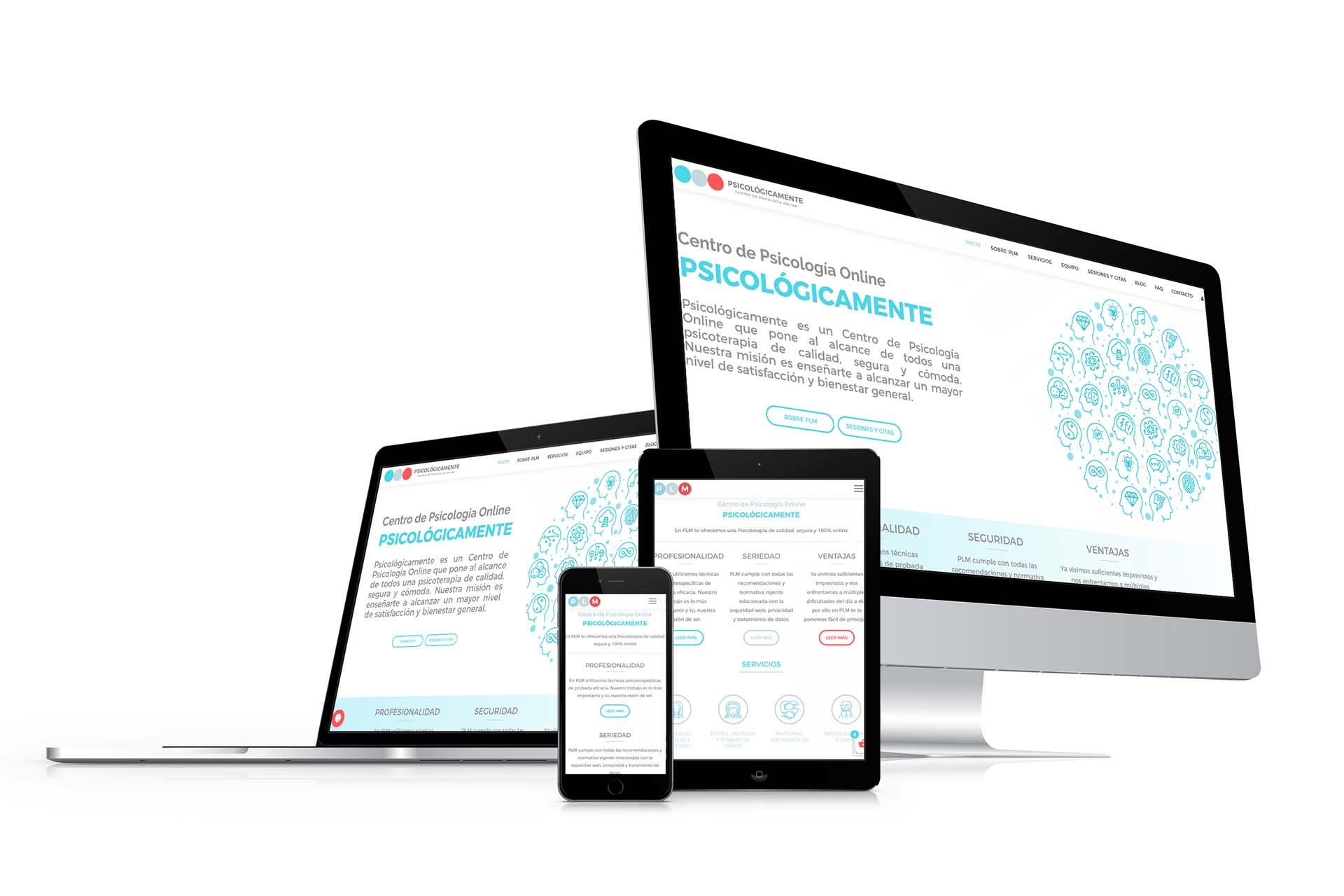Diseño web Psicologicamente Online